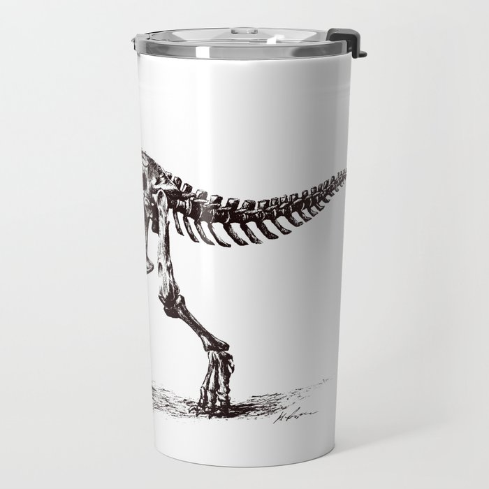 Dinosaur Skeleton in Ballpoint Travel Mug