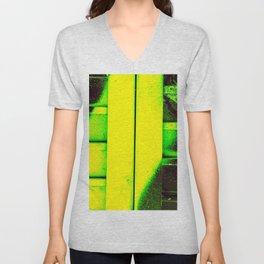 Black, Green and Gold Unisex V-Neck