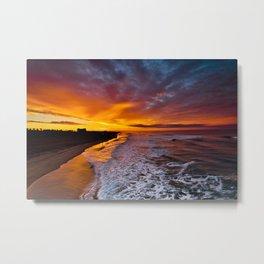 Huntington Beach Sunrise  1/10/15 Metal Print