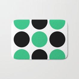 Mid Century Modern Polka Dot Pattern 9 Black and Green Bath Mat