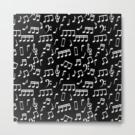 Musical Notes Pattern Metal Print