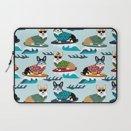 Corgi SUP Paddleboarding surfing watersports athlete summer fun dog breed Laptop Sleeve
