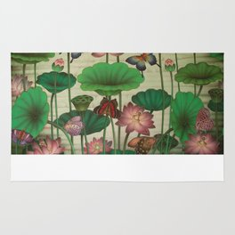 Lotus Painting Rug