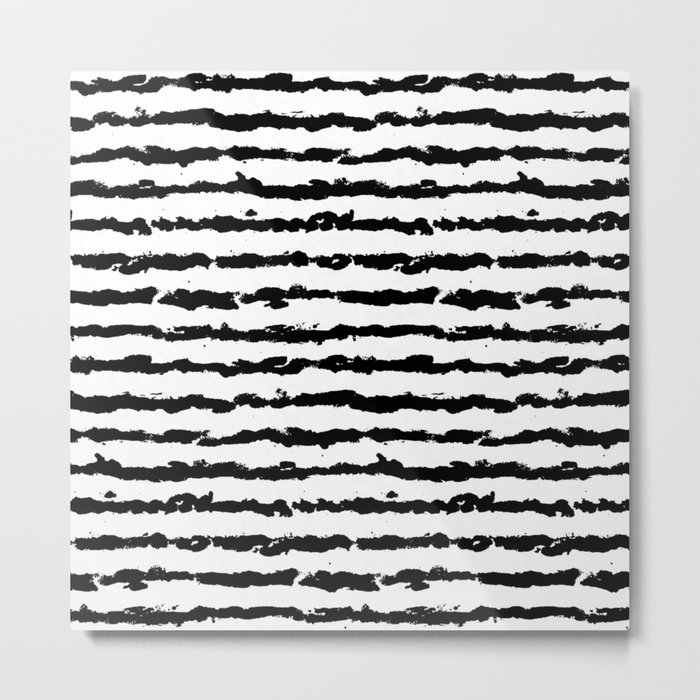Brush Stripes Metal Print