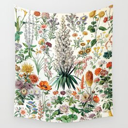 Adolphe Millot - Fleurs B - French vintage poster Wall Tapestry
