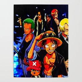 crew of mugiwara Poster