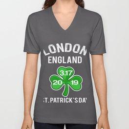 Best Paddys Day Lodon Eng Design 19 Unisex V-Neck