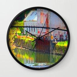 Pointillism: Snoqualmie Falls Wall Clock