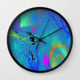 Abstract Neon Art Wall Clock