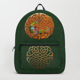 Peacock Celtic Deco Backpack