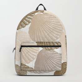 Sea Shells Pattern in Beige and Cream Backpack