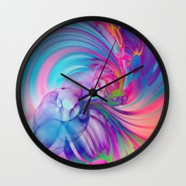 Smooth Swirling Wall Clock