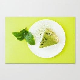 green cake Canvas Print