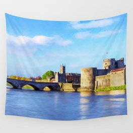 King Johns Castle and Thomond Bridge Wall Tapestry