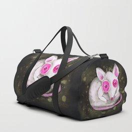 Albino rat Duffle Bag