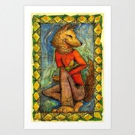 Coyote Harvest Art Print