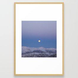 Full Moon Over Whistler Blackcomb | British Columbia, Canada | John Hill Photography Framed Art Print