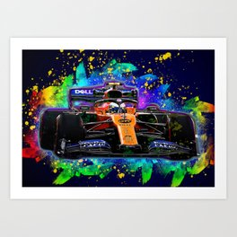Lando Norris car Art Print