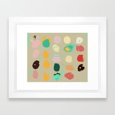 Tops of Ice Cream Cones Like Toupées Framed Art Print