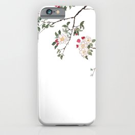 pink cherry blossom Japanese woodblock prints style iPhone Case