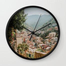 Italy - Via con me in Riomaggiore Wall Clock