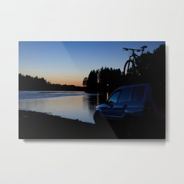 Ride Till Sunset Metal Print