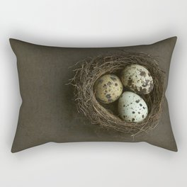 Quails Eggs and Nest Rectangular Pillow