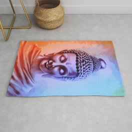 Gautama Buddha Abstract Rug