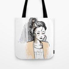 Frenchy Girl Tote Bag