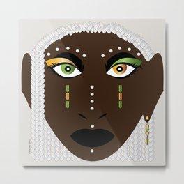 African Akan Spirit of the Soul Ngame Metal Print