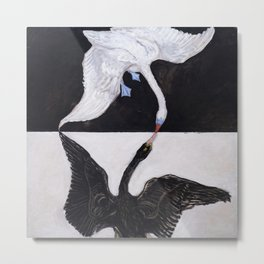 Hilma af Klint - The Swan Metal Print