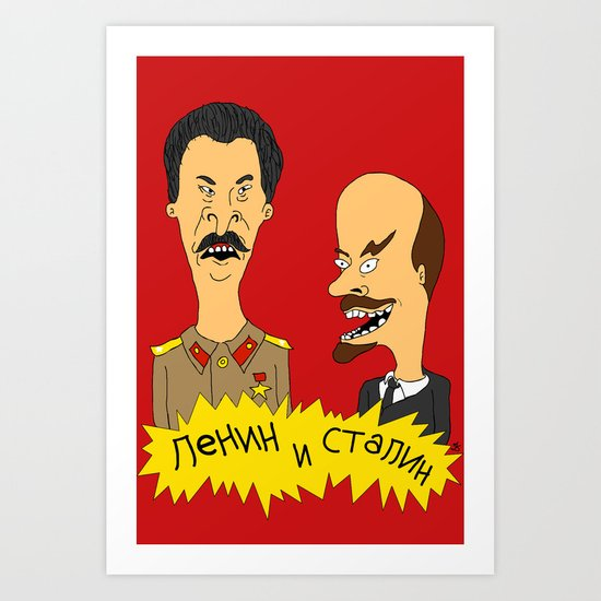 Lenin and Stalin Art Print