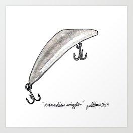 Canadian Wiggler Art Print