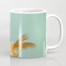 Goldfish with a Shark Fin (under a cloud) Coffee Mug