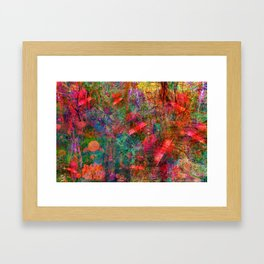 The Dissonant Tolls of September Bells (abstract, psychedelic) Framed Art Print
