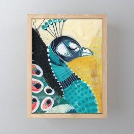 Peacock // Funky Framed Mini Art Print