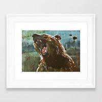 teddy bear Framed Art Prints featuring TEDDY by Tina Yu
