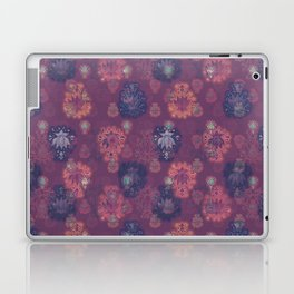 Lotus flower - mulberry woodblock print style pattern Laptop & iPad Skin