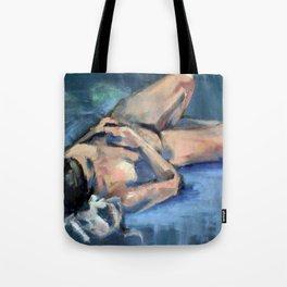 Figure in Painted Sketch Tote Bag