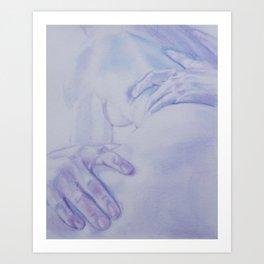 Lovers Embrace Art Print