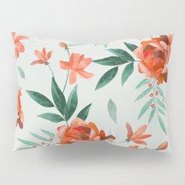 Paper-cut floral peach Pillow Sham