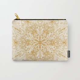 Sepia Snowflake Doodle Carry-All Pouch