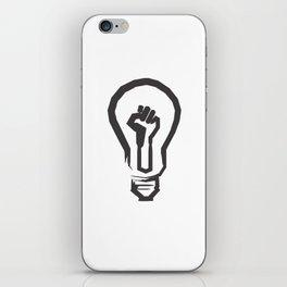 Black Lives Matter - Lit Light Bulb iPhone Skin