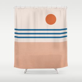 Abstraction_SUN_Horizon_Minimalism_001 Shower Curtain