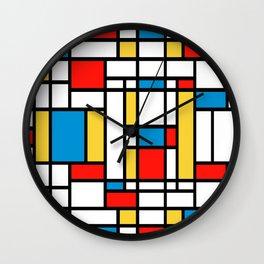 Tribute to Mondrian No2 Wall Clock