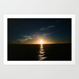 Sunset Water Reflection Art Print