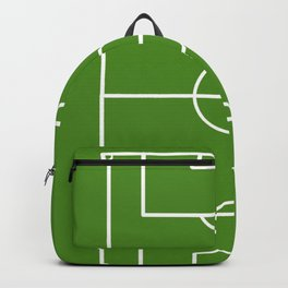 Football field fun design soccer field Backpack