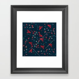 Geometric Abstract Red Pattern Framed Art Print