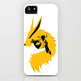 Ninja and his beast Kurama  iPhone Case
