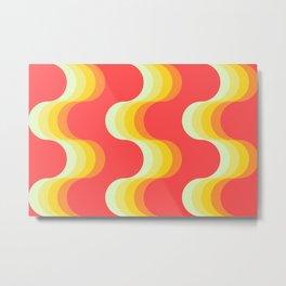 Retro Waves Metal Print